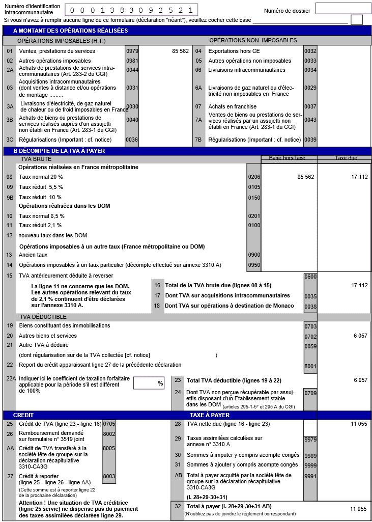 Sage100 Compta i7: B. Déclaration de la tva